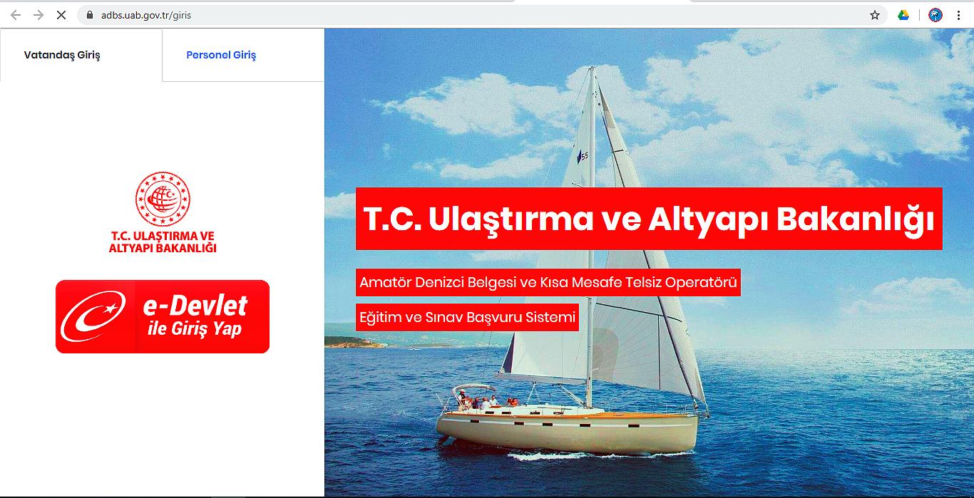 Amatör Denizci Belgesi ve Kısa Mesafe Telsiz Operatörü Eğitim ve Sınav Başvuru Sistemi Pilot Uygulaması Ankara'da başladı!